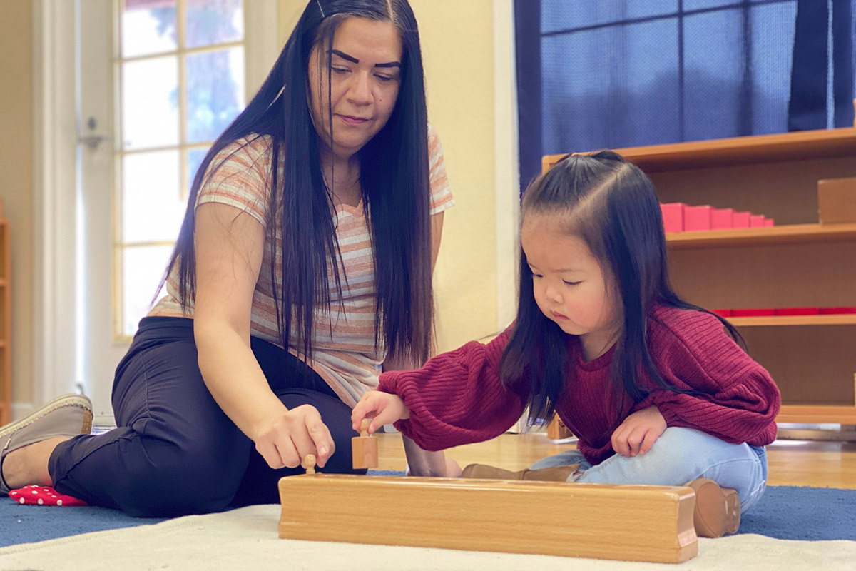 Montessori School Two-Year Old Student Sensorial